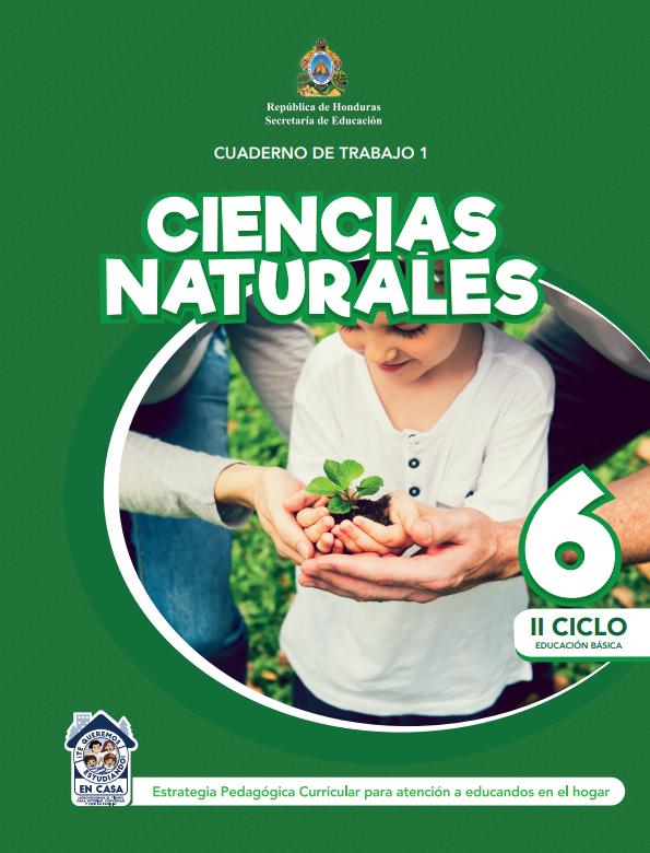 Cuaderno de Trabajo 1 Ciencias Naturales 6 Sexto Grado Honduras 2021