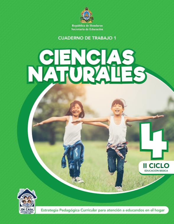 Cuaderno de Trabajo 1 Ciencias Naturales Cuarto 4 Grado Honduras