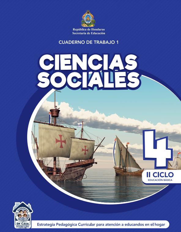 Cuaderno de Trabajo 1 Ciencias Sociales Cuarto 4 Grado Honduras
