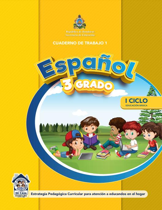 Cuaderno de Trabajo 1 Español Tercer 3 Grado Honduras