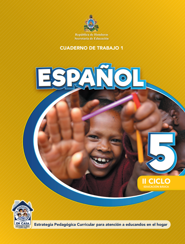 Cuaderno de Trabajo 1 Español para 5 Quinto Grado Honduras 2021