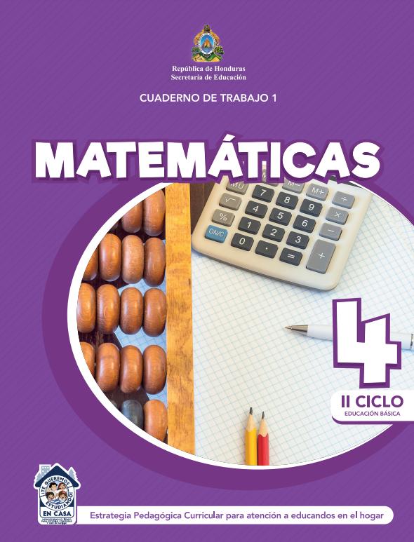 Cuaderno de Trabajo 1 Matemáticas Cuarto 4 Grado Honduras