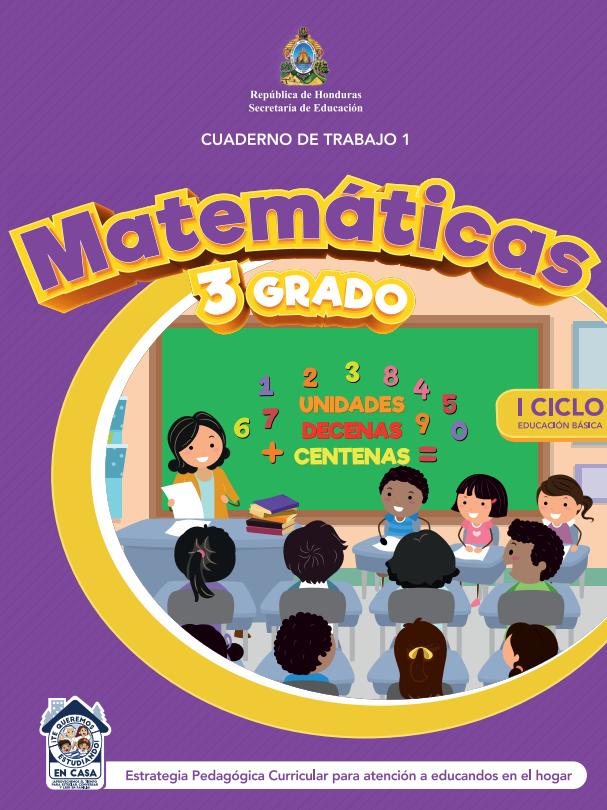 Cuaderno de Trabajo 1 Matematicas Tercer 3 Grado Honduras