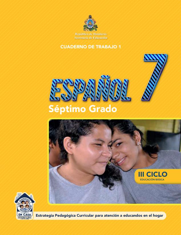 Cuaderno de Trabajo 1 de Español 7 Septimo Grado Honduras 2021