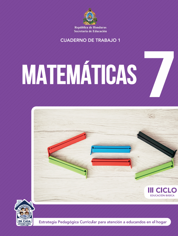 Cuaderno de Trabajo 1 de Matematicas 7 Septimo Grado Honduras 2021