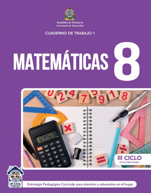 Cuaderno de Trabajo 1 de Matematicas 8 Octavo Grado Honduras
