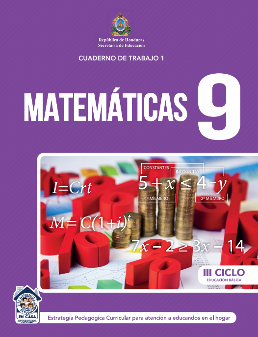 Cuaderno de Trabajo de Matematicas 9 Noveno Grado Honduras