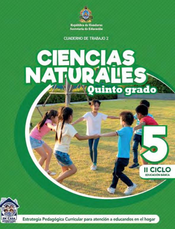 Cuaderno de Trabajo 2 Ciencias Naturales 5 Quinto Grado para Honduras