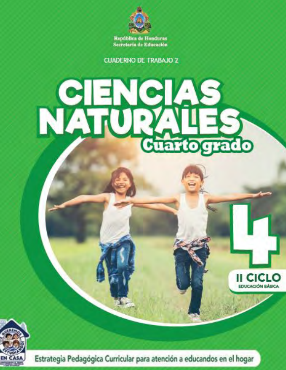 Cuaderno de Trabajo 2 Ciencias Naturales Cuarto 4 Grado Honduras