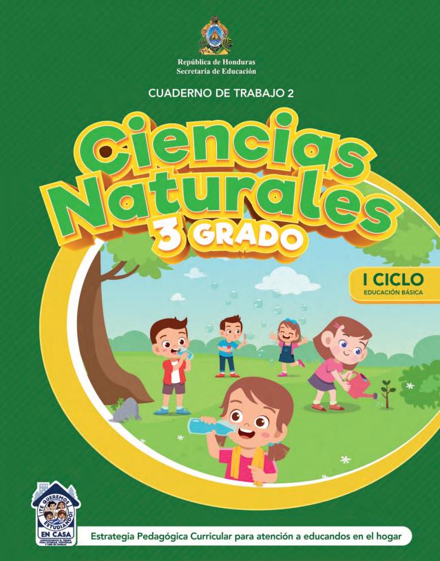 Cuaderno de Trabajo 2 Ciencias Naturales Tercer 3 Grado Honduras