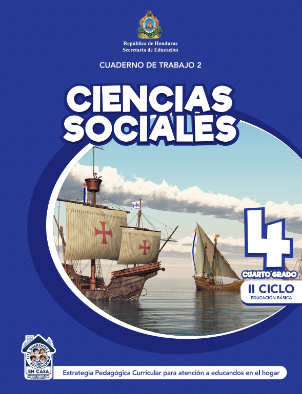 Cuaderno de Trabajo 2 Ciencias Sociales Cuarto 4 Grado Honduras
