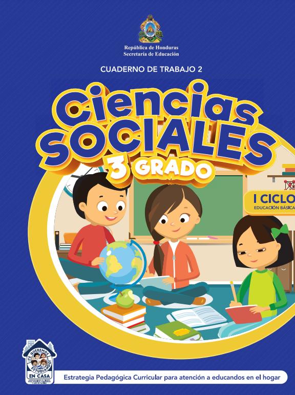 Cuaderno de Trabajo 2 Ciencias Sociales de Tercer 3 Grado Honduras