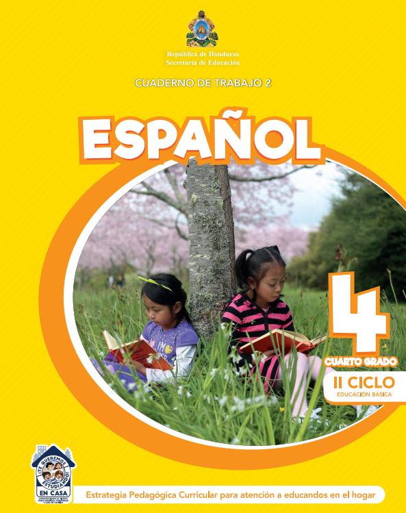 Cuaderno de Trabajo 2 Español Cuarto 4 Grado Honduras
