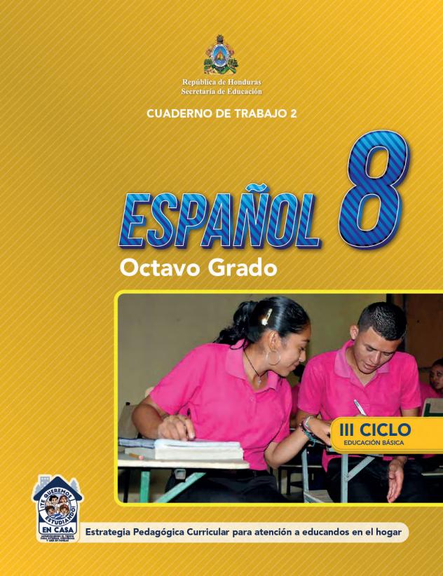 Cuaderno de Trabajo 2 Español Octavo 8 Grado