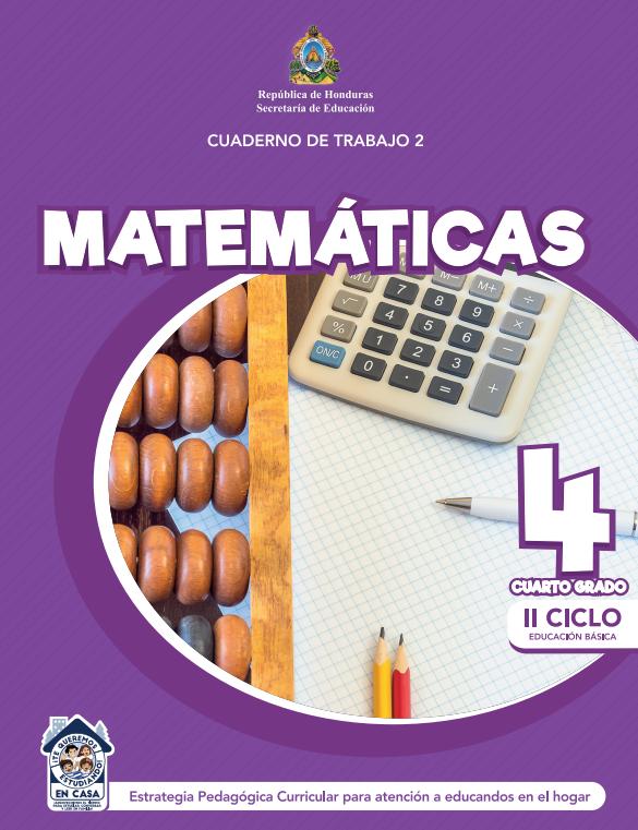Cuaderno de Trabajo 2 Matemáticas Cuarto 4 Grado Honduras