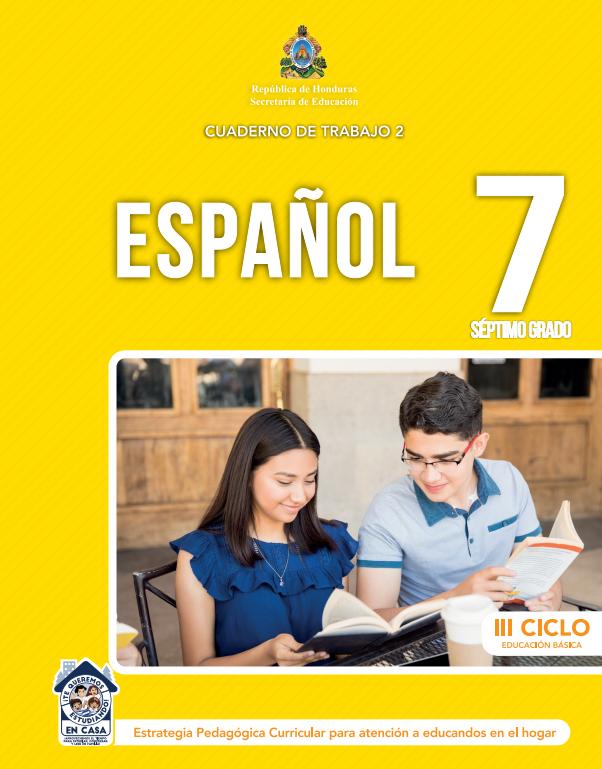 Cuaderno de Trabajo 2 de Español 7 Septimo Grado Honduras 2021