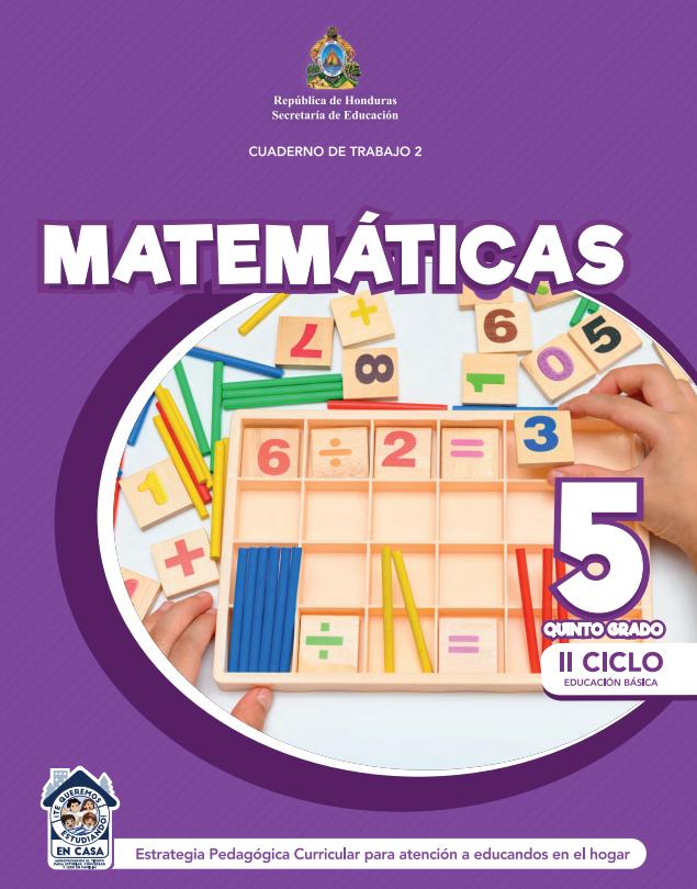 Cuaderno de Trabajo 2 de Matematicas 5 Quinto Grado Honduras 2021
