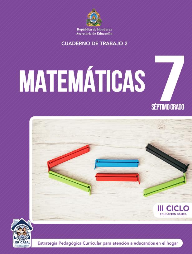 Cuaderno de Trabajo 2 de Matematicas 7 Septimo Grado Honduras 2021