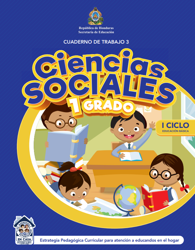 Cuaderno de Trabajo 3  Ciencias Sociales Primer 1 Grado Honduras