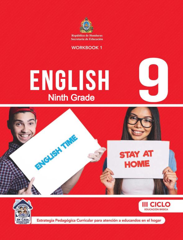 Cuaderno de Trabajo WorkBook 1 Ingles Noveno 9 Grado