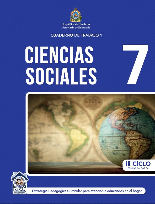 Cuaderno de Trabajo de Ciencias Sociales 7 Septimo Grado Honduras 2021