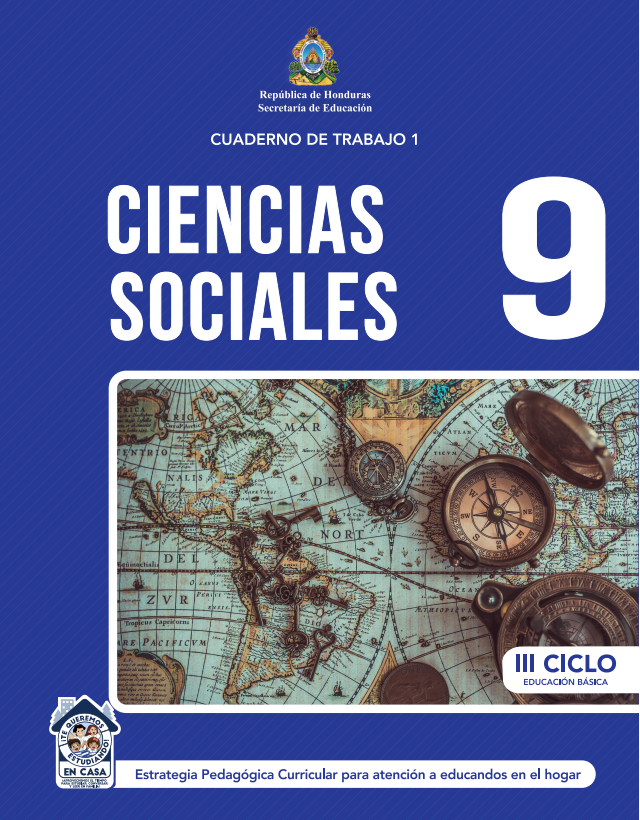 Cuaderno de Trabajo de Ciencias Sociales Noveno 9 Grado Honduras 2021