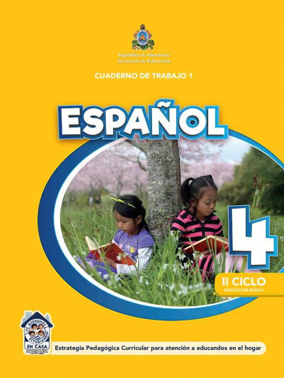 Cuaderno de Trabajo de Español Cuarto 4 Grado Honduras