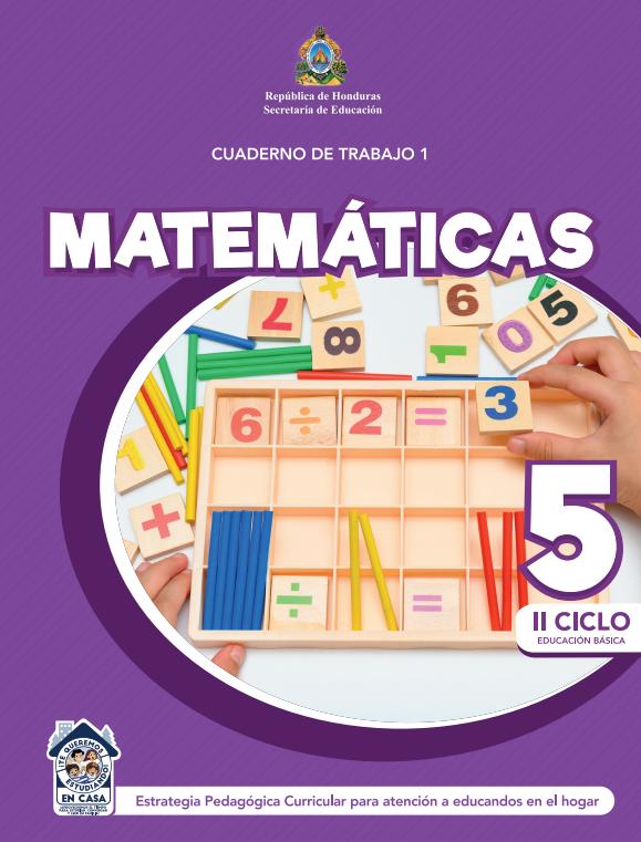 Cuaderno de Trabajo de Matematicas 5 Quinto Grado Honduras 2021