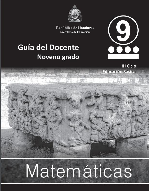 Guia del Docente Matematicas 9 Grado Honduras
