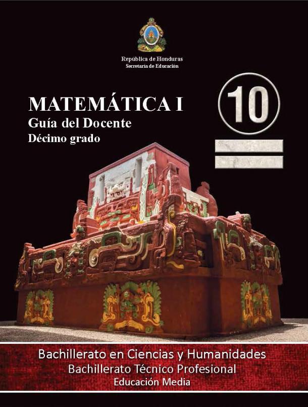Guia del Docente Matematicas 10 Grado Honduras