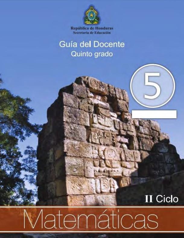 Guia del Maestro Matematicas 5 Quinto Grado Honduras