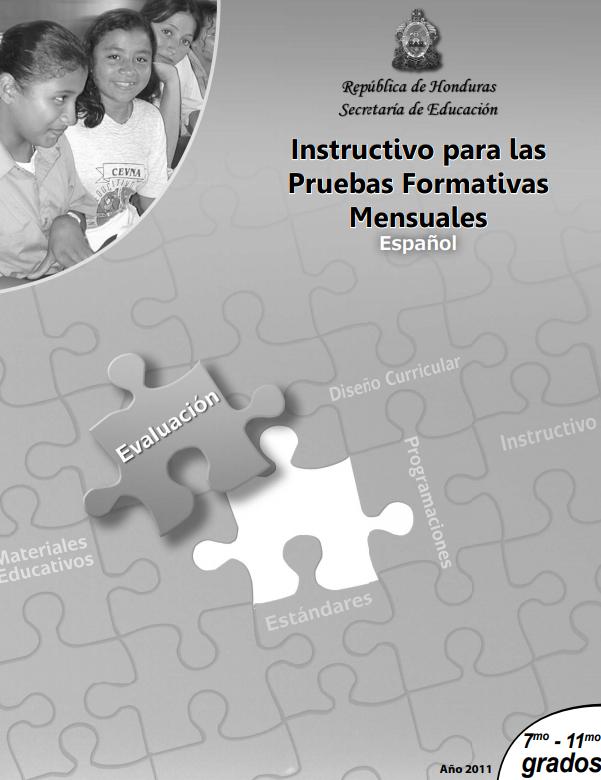 Instructivo para las pruebas formativas mensuales español 7 a 11 grado