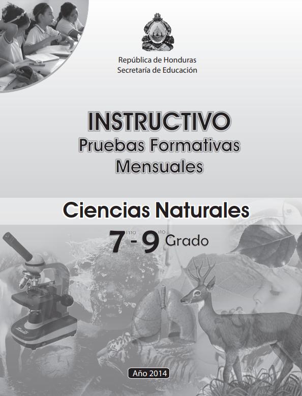 Instructivos Pruebas Formaticas Mensuales Ciencias Naturales  Honduras 2021