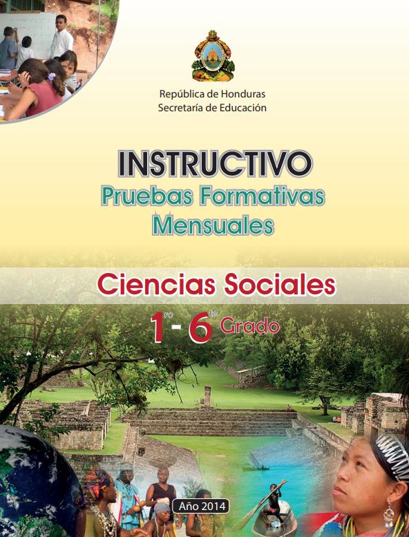 Instructivos Pruebas Formaticas Mensuales Ciencias Sociales Honduras 2021 1 a 6 grado