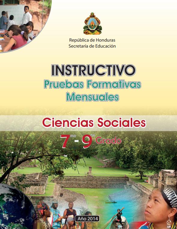 Instructivos Pruebas Formaticas Mensuales Ciencias Sociales Honduras 2021 7 a 9 grado