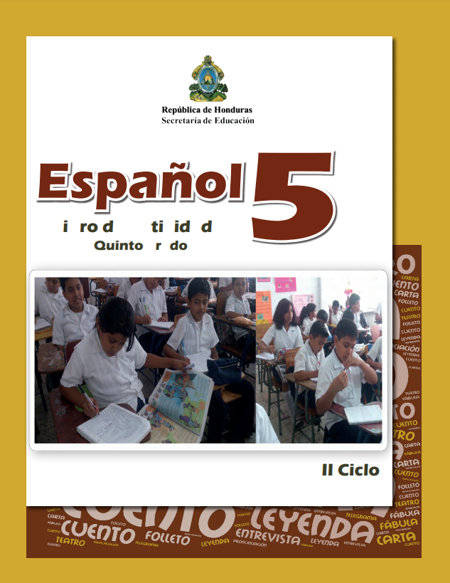 Libro de Actividades de Español 5 Grado Honduras