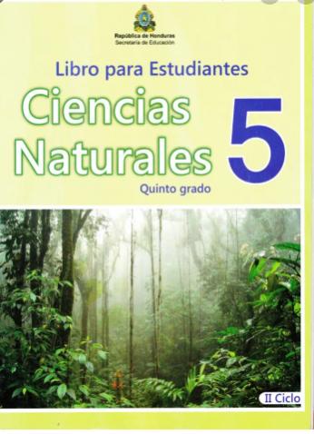Libro de Ciencias Naturales 5 Grado Honduras