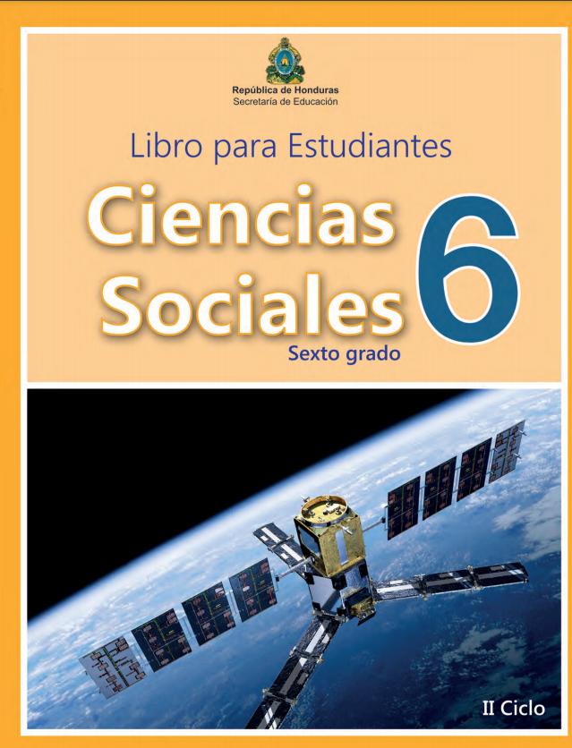 Libro de Ciencias Sociales 6 Grado Honduras