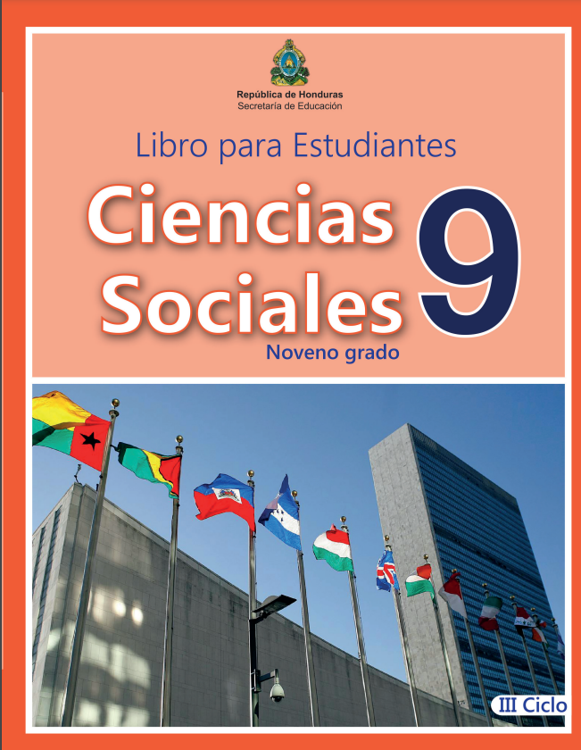 Libro de Ciencias Sociales 9 Grado Honduras