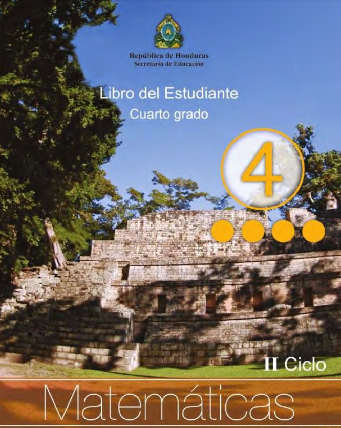 Libro de Matematicas 4 Grado Honduras