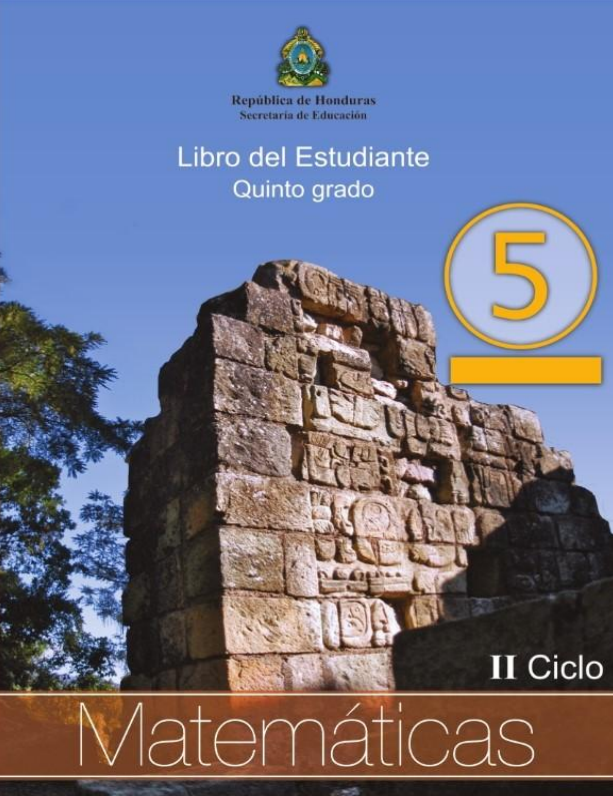 Libro de Matematicas 5 Grado Honduras