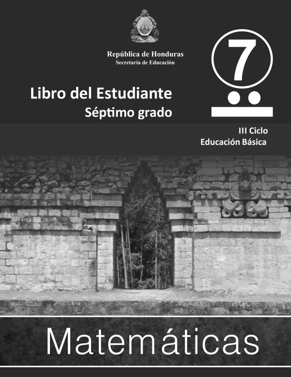 Libro de Matematicas 7 Grado Honduras