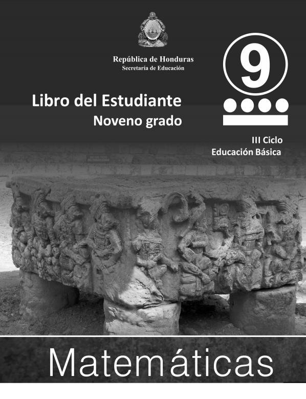 Libro de Matematicas 9 Grado Honduras