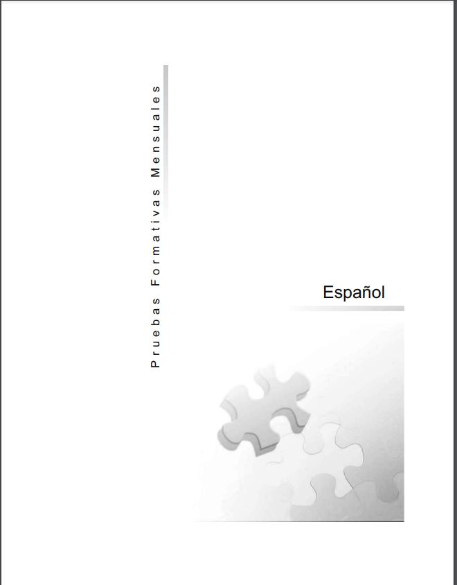 Pruebas Formativas Español 5 Quinto Grado Mensuales