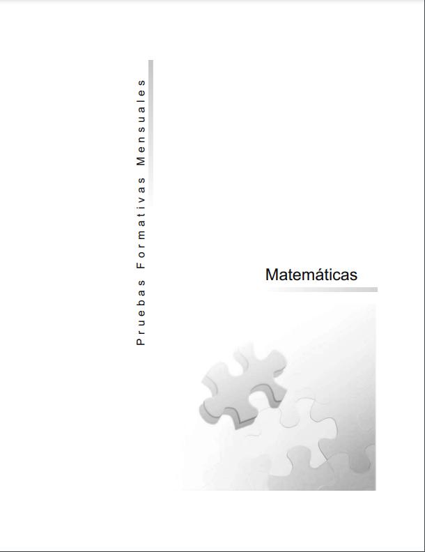 Pruebas Formativas Matematicas 6 Sexto Grado Mensuales