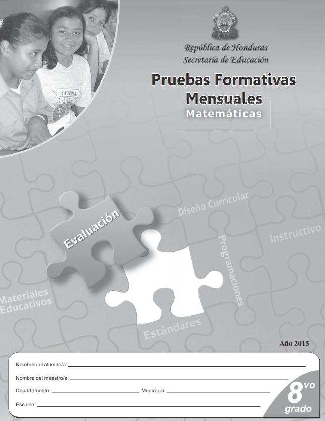 Pruebas Formativas Matematicas 8 Octavo Grado Mensuales