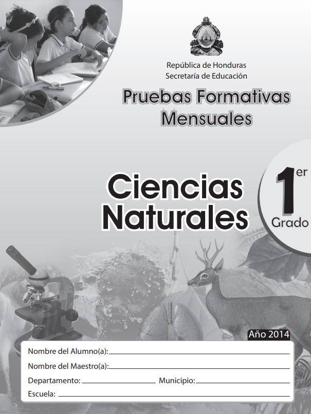 Pruebas Formativas Mensuales Ciencias Naturales 1 Primer Grado