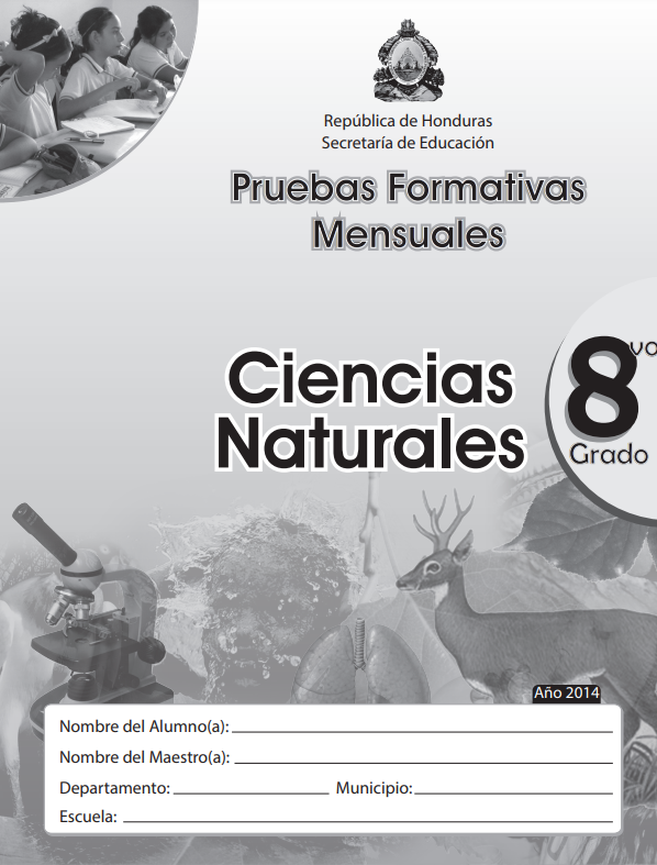 Pruebas Formativas Mensuales Ciencias Naturales 8 Octavo Grado