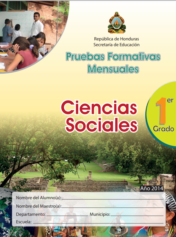 Pruebas Formativas Mensuales Ciencias Sociales 1 Primer Grado