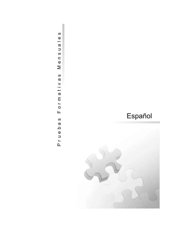 Pruebas Formativas Mensuales de Español 6 Sexto Grado Honduras